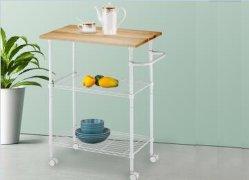 Rack organizer a 3 livelli scaffalatura in filo semplice Design per cucina Scaffale per carrello portaoggetti