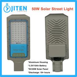 Alta potencia 50W de iluminación exterior LED linterna de luz solar calle