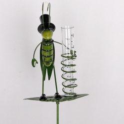 정원 또는 잔디밭 또는 야드 훈장을%s 금속 곤충 모양 우량계 정원 기술