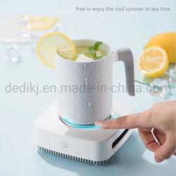 1개의 휴대용 소형 전기 냉장고 찻잔, 찬 마시는 제작자에 대하여 2장의 가열하고 냉각하는 탁상용 커피 온열 장치 컵