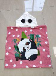 Los niños impreso digital toalla Poncho Panda