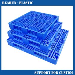 Double Face Hape Steel Euro Reinforced HDPE plastic pallet