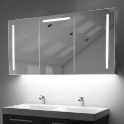 LED에 의하여 비친 약장이 현대 가구 홈에 의하여 장식적인 잘 고정된 LED 알루미늄 MDF PVC 목욕탕 내각 허영 상단 미러 점화했다