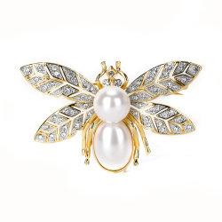Fashion Earrings Crystal Earrings Necklace Brooch bijoux de mode concis de la conception de l'abeille
