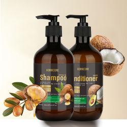 Private Label Commercio all'ingrosso Naturale Organic Argan Oil Keratin solfato libero Trattamento anti perdita di capelli cura prodotto Shampoo e Conditioner