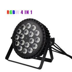 indicatore luminoso piano di PARITÀ delle coperture LED della fusion d'alluminio di 18X10W RGBW 4in1