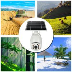 1080P облачных систем хранения Ai обнаружения автоматическое отслеживание солнечной Высокая скорость PTZ Купольная IP-камера с ИК-светодиоды и 8W СОЛНЕЧНАЯ ПАНЕЛЬ