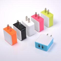 Doble puerto colorido nos 24V de alimentación de pared USB Adaptador de cargador de casa y viajes de carga para los teléfonos móviles