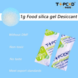 1g de gel de sílice desecante de ensacado de grado alimentario para los frutos secos / Snacks