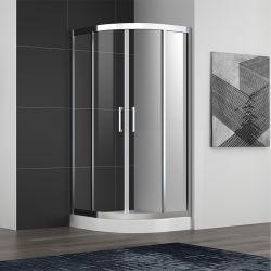 Receptáculo de ducha de cristal templado puertas corredizas de cabina de ducha simple