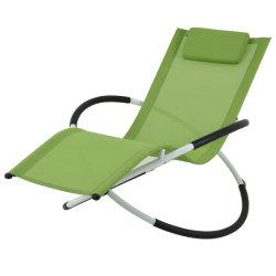 أثاث متأرجح كرسي مريح وعملي في اللاونج الداخلي الأخضر الخارجي كرسي هزاز متعدد الوظائف