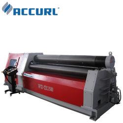 Accurl W11f 4*1500mm 3 plaque de métal de rouleau de rouler la machine