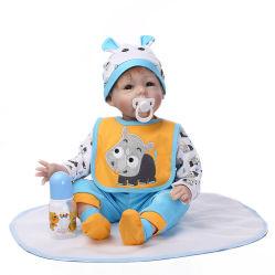 preço de fábrica 55cm brinquedos boneca bebê nasça de Silicone macio Corpo real recém-Bebe renascer Doll Aniversário Dom Girl Doll Toy