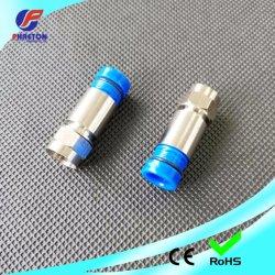 La compresión de RG6 resistente al agua el Conector para cable coaxial