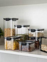 고급 주방 플라스틱 용기 시리얼 식용 - PP + TRP + PET 저장 식품 상자
