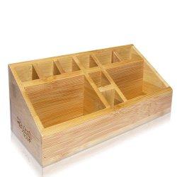 Небольших многофункциональных бамбука организатор регистрации лоток лоток для аксессуаров для дома и офиса школы искусства питания держатель щетки пальчикового типа Pen коллекция в салоне