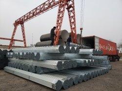 Material de construção preto por imersão a quente-Galvanized HDG andaimes andaime tubo tubo de aço de andaimes