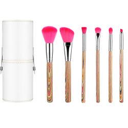 Косметический набор щеток вращающегося пылесборника макияжа Профессиональный многофункциональный с пакетами индивидуальные 7ПК