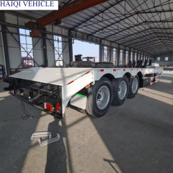 3 차축 60톤 중부하 작업용 중장비 운송 트럭 낮은 플랫폼 트레일러