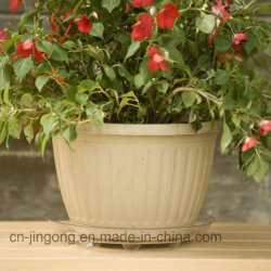 China Factory fornecer material Pet Personalizado vasos de plantas Flower Pot Bandeja Inferior