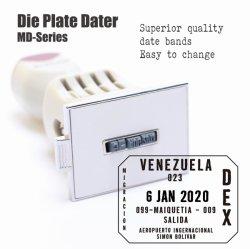 Die Date de la plaque de timbres avec bandes de meilleure qualité date facile à régler