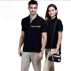 Camicia di polo Quick-Dry personalizzata del cotone del Mens di golf dello spazio in bianco della pianura del ricamo di stampa di polo della maglietta del manicotto unisex di Short