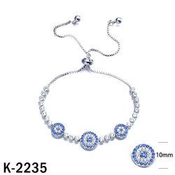 Jóias de moda 925 Sterling Silver CZ ajustável pulseiras para Mulheres
