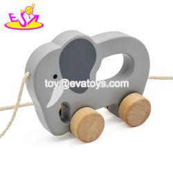 子供、ベストセラーの子供の引きラインおもちゃ、高品質の赤ん坊の木のおもちゃの引きおよび押しのおもちゃW05b084のための美しい木の引きのおもちゃ