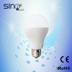 مصباح LED طراز A60 طراز E27/B22 أساسي 7 واط ومصباح توفير الطاقة RoHS 100-240 فولت مع توجيه تقييد استخدام مواد خطرة معينة (RoHS)