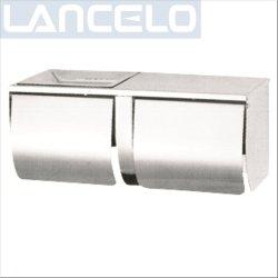 Badezimmer-Zubehör-Spiegel-Ende-Toiletten-Seidenpapier-Halter mit Kappen-Rollenpapier-Halter