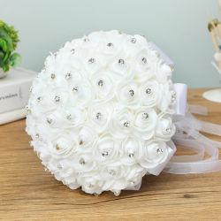 Os serviços incluem wedding bouquet de rosas de Seda Pérola Cristal Suite Bridesmaid mão de casamento bouquet de flores falso Artificial