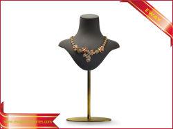 Affichage de Bijoux Bijoux Superfiber Buste mannequin écran avec affichage de base de métal Necklace titulaire