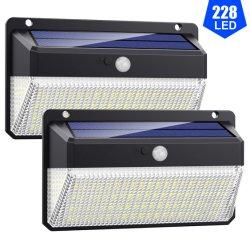 Usine Source LED Lampes extérieure porte avant de la porte étanche des feux de la sécurité du capteur de mouvement IRP mur solaire lumière