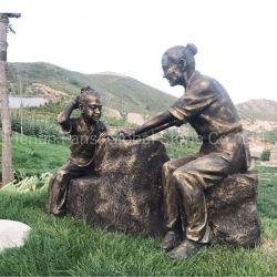 Bronze personalizzata grande statua figura esterna scultura (GSBR-308) del bronzo del giardino di paesaggio