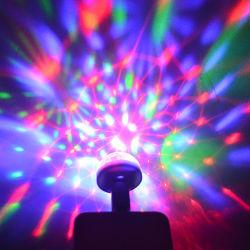Indicatore luminoso controllato della discoteca della sfera del USB del cambiamento di colore di Linli 3 LED RGB del DJ magico del suono/musica