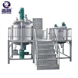 Industriële Lotion Liquid Cosmetic Cream Making machine reinigingsmiddel Verwarmd mengen Reactor-mengtank met roermixer