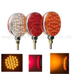 24HP*2 LED vermelho da luz de dupla face e Pedestal Âmbar da Sinaleira Direcional do Pára-Lama Luzes Traseiras