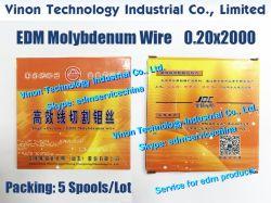 (5 bobine) filo di molibdeno JDC 0,20 mm*2000 metri (marchio Guangming) alta efficienza per filo di molibdeno EDM HS-WEDM 0.20 (5 bobine=10, 000Mtrs)