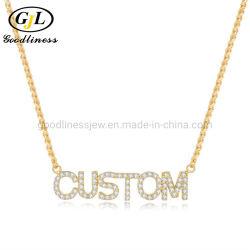 Mode Custom gepersonaliseerde Koper kubieke Zirconia Full Crystal letter ketting