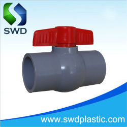 新しいコンパクトプラスチックバルブ(ねじ付きまたはソケット付き)のホットセールス PVC バルブボールバルブ