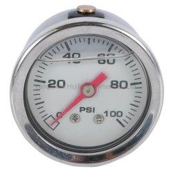 자동 Enige를 위한 액체에 의하여 채워지는 스테인리스 연료 압력 계기 15/60/100 Psi