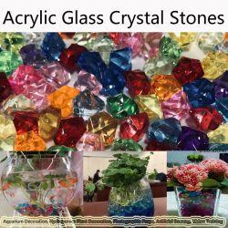 Cor Artificial Rock vidro acrílico pedra cristal vaso de plástico pedras decorativas do tanque de peixes Home decorações de casamento