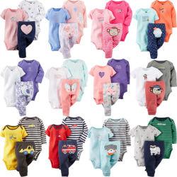 3 ПК, одежду для малыша длинной втулки и короткие рукава малыша с Romper брюки устанавливает