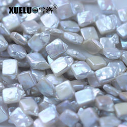 15-18mm reais naturais de qualidade AAA Quadrada Barroco Nucleadas cultivadas Strings pérola de água doce (XL190012)
