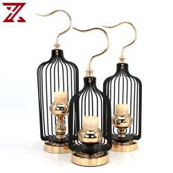 Factory Direct chandelier minimaliste lanterne métallique circulaire porte-bougie Décoration pour la maison