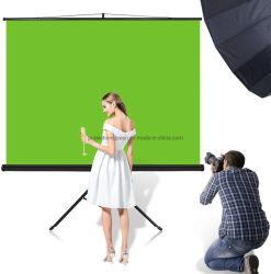 휴대용 접이식 크로키키 배경 크로마키 배경 프로젝터 녹색 스크린 스탠드 삼각대 사용