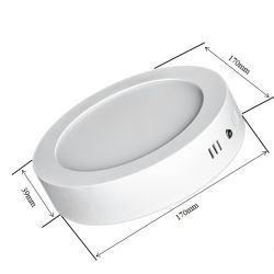 سعر الجملة سطحي رفيع تم تركيبه 2 في 1 جولة بلاستيكية لوحة مصابيح LED