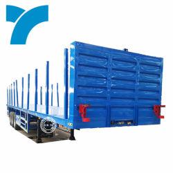 40t 3 차축 점퍼기 트럭 세미 컨테이너 리프트 플랫 침대 트레일러