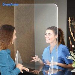 투명 플라스틱 방패 화면 아크릴 유리 카시어 방패 재채기 화면 가드십시오