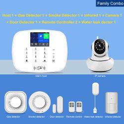 Beste Draadloze GSM 3G 4G433MHz van het Systeem van het Alarm van de Veiligheid van het Huis van WiFi Tuya IP van de Steun van de Sirene van de Afstandsbediening van de Sensor van de Deur PIR Camera